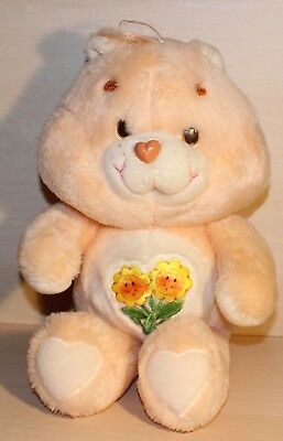 "Vintage 1983 Original Peach 14"" Care Bear Friend Bear"