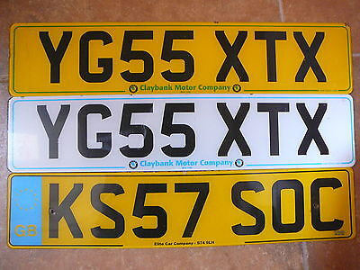 Lot of license plates from Great Britain (United Kingdom)