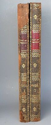VINTAGE leather covered HISTORY OF AMERICA 2-VOL 'BOOK' CHESS BOARD BACKGAMMON