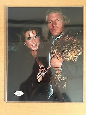 RARE WWE Triple H & Stephanie McMahon 8x10