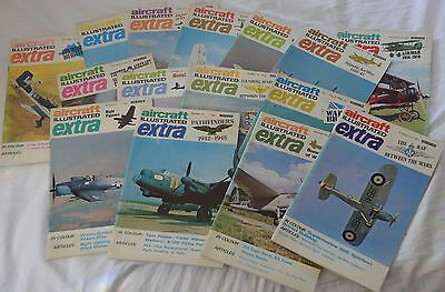 Aircraft Illustrated Extra Issue 1-10 & 12-16 (15 Magazines) 1969-70's