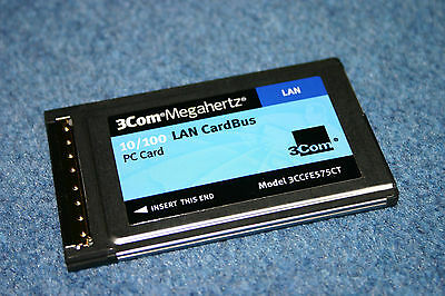 New 3Com 3CCFE575CT Megahertz 10/100 Mbps PCMCIA LAN CardBus PC Card Ethernet