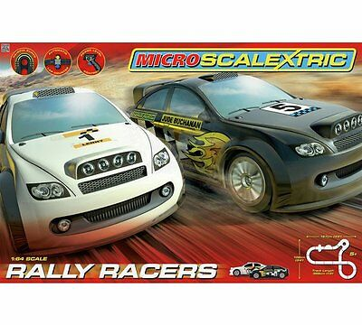Micro Scalextric 1:64 Scale Rally Racers Race Set NEW AND BOXED