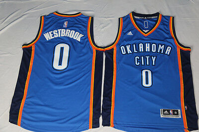 New Oklahoma City Thunder #0 Russell Westbrook Basketball Jersey ( Blue )