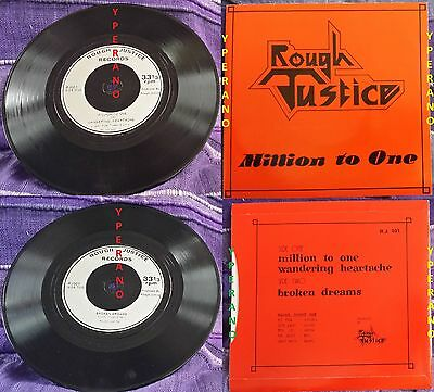 "ROUGH JUSTICE: Million To One 7"". Mint.  Check audio. Ultra RARE NWOBHM. 1982"