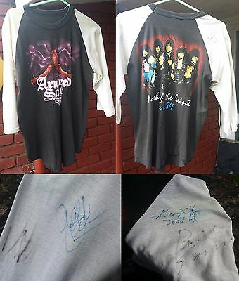 Armored Saint RARE 1984 Tour shirt SIGNED March Of the Saint long sleeve