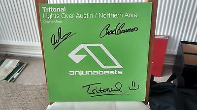 Tritonal - Lights Over Austin / Northern Aura - Signed - Anjunabeats vinyl