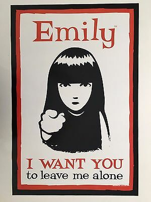 Emily Strange,'i Want You To Leave Me Alone' Cosmic Debris,authentic 2002 Poster
