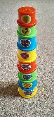 Children's 8 Piece Stacking Cup Development Toy Colourful 0+