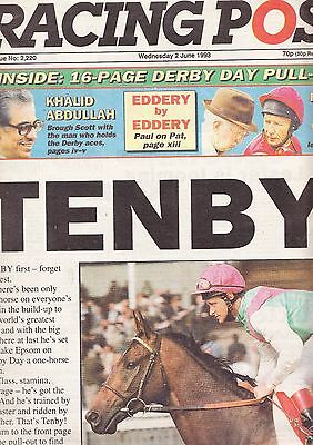 "Racing Post Newspaper - Wednesday June 2, 1993 - ""Epsom Derby"""