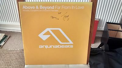 Above & Beyond - Far From In Love (Remixes) - Signed by A&B - Anjunabeats vinyl