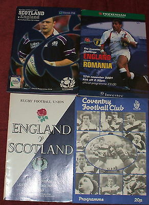 4 Different Rugby Union Programmes 1969-2002