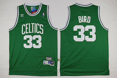 New Boston Celtics #33 Larry Bird Basketball Jersey (Green) Size: S - XXL