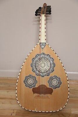 Pierced Wood GORGEOUS Inlay Bowl Back LUTE/Guitar Instrument