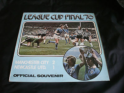 1976 LEAGUE CUP FINAL AT WEMBLEY 'Manchester City v Newcastle United'