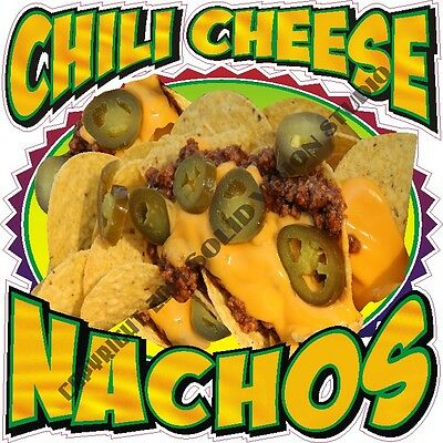 """14"""" Chili Cheese Nacho Concession Trailer Food Truck Restaurant Vinyl Sign Decal"""