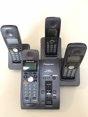 Panasonic 5.8GHz KX-TG6031CB 4 Handset Cordless Phone with Answer