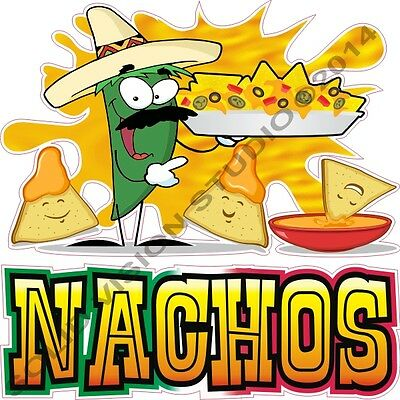 """9"""" Nacho Cheese Concession Trailer Mexican Restaurant Food Truck Cart Sign Decal"""