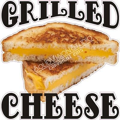 """14"""" Grilled Cheese Sandwich Restaurant Concession Trailer Food Truck Sign Decal"""