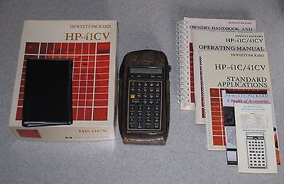 Boxed Hewlett Packard 41CV Calculator with Case, Manuals + more   HP41CV