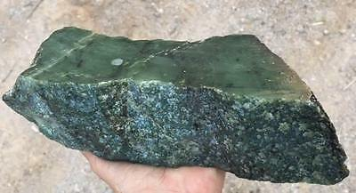 3.86 LB BC Canada  Natural Raw Rough Green Jade Block Specimen Rough