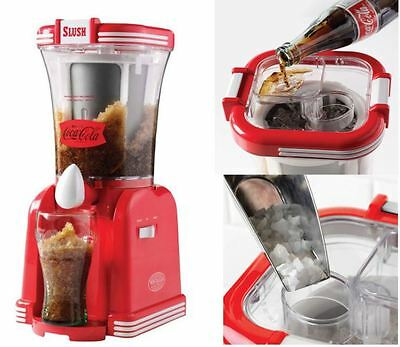 Coca Cola Slushie Drink Maker Snow Cone Slurpee Frozen Beverage Mixer Machine