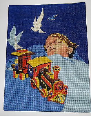 "Beautiful vintage needlepoint - LE REVE (  dream)  16""  x  12"""