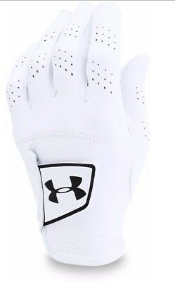 Under Armour Spieth Tour Glove Left Hand White Golf Glove - Pick Size