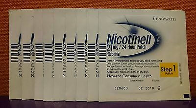 Nicotinell  21mg  ( 9 PATCHES  )  Step 1   Nicotine Replacement Stop Smoking Aid