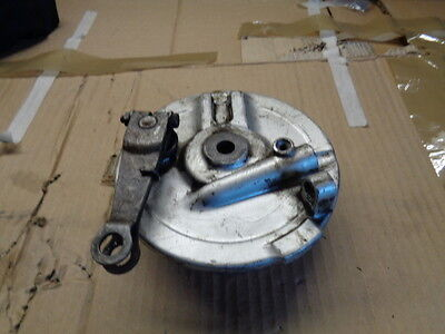 Honda CG125 front brake assembly with shoes