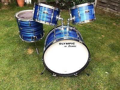Vintage Premier Olympic Drum Kit -  60s/70's - Mahogany Shells - Beautiful Wrap