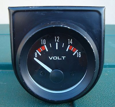CLASSIC / KIT CAR VOLTMETER GAUGE IN GOOD USED CONDITION ~ 1990's