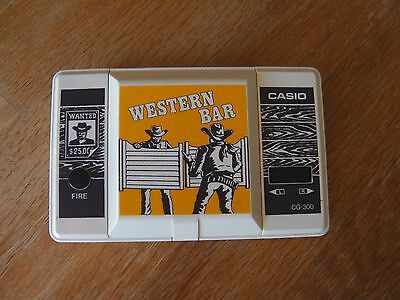 "Lcd game Casio "" Western bar "" CG 300  game Watch"