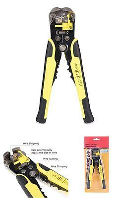 Ultimate Self Adjusting Wire And Cable Crimper Stripper Cutter Tool 8inch Yellow