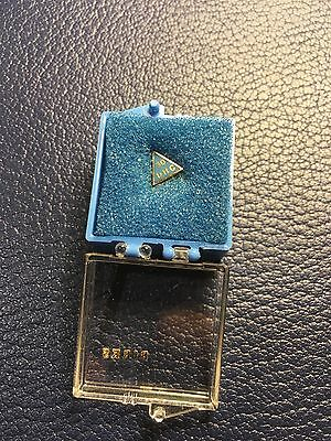 VINTAGE DHC 30 Years Employee Service 10k Solid Gold & Blue Enamel Pin