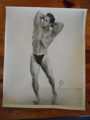 Vintage ED THERIAULT bodybuilder muscle ORIGINAL Tony Lanza signed photo