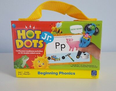 "Learning Resources Hot Dots Jr. ""Beginning Phonics"" Practice Cards Kids Toy NEW"