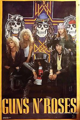 VINTAGE GUNS N ROSES APPETITE FOR DESTRUCTION POSTER SEALED 22x34 GNR 88