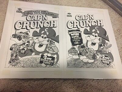 Cap'n Crunch Cereal Box Cover Ideas Vintage
