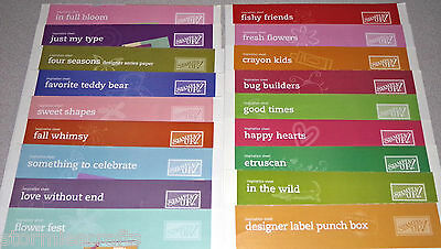 Stampin Up Inspiration Sheets Singles of Assorted Themes 18 Sheets Total
