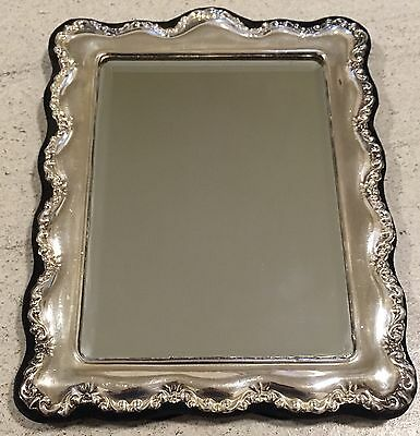 Hallmarked 1987 Large Silver Mirror Dressing Table London
