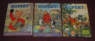 Rupert Annual The Daily Express Annuals x 3
