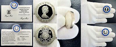 1982 .925 Silver Proof Piedfort 20 Pence - Nr. Mint with Capsule & COA -SP# 4230