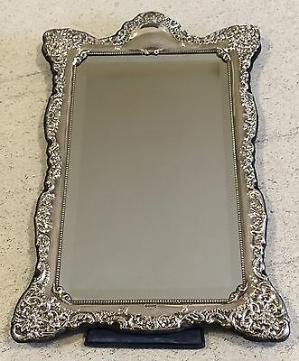 """Hallmarked Silver Mirror 14.5"""" x 9"""" Carrs 1993 Sheffield Dressing Table Large"""