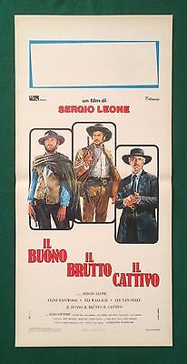 The Good The Bad And The Ugly Original  Italian Poster Rolled Eastwood Leone
