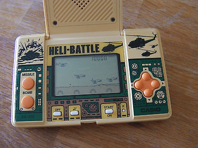 "Lcd game Casio "" Héli battle "" CG 370 game watch 1987"
