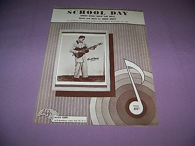 Vintage Chuck Berry School Day 1957  Sheet Music Excellent