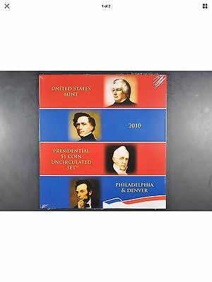 2010 S P&D Mint Presidential 1 Coin Uncirculated 8 Coin Set