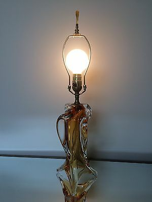 Chalet Glass Lamp Amber Gold