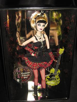 2008 HARD ROCK CAFE Gothic Barbie Doll/HRC Collector Pin Gold Label L9663 NRFB